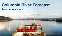 Columbia River Forecast. Learn more.