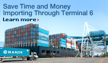 Save Time and Money Importing through Terminal 6