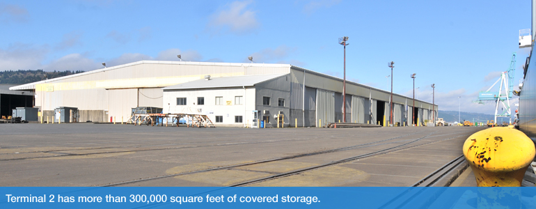 Terminal 2 has more than 300,000 square feet of covered storage.